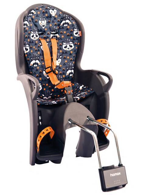 Hamax Kiss Kindersitz grau/orange muser